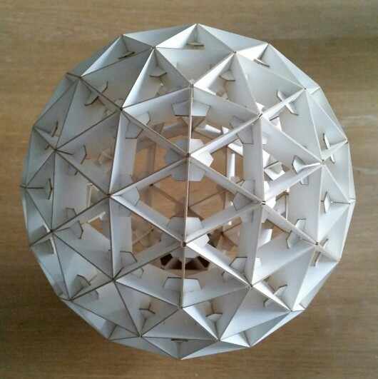 Geodesic sphere made out of laser cut woodboard